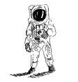 Hand sketch spaceman vector image