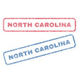 north carolina textile stamps vector image