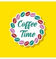 paper sticker on stylish background bean Coffee vector image