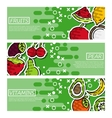 Set of Horizontal Banners about fruits vector image