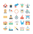 Circus Colored Icons 1 vector image