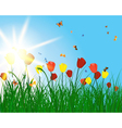 Color meadow vector