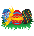 easter egg group vector image vector image