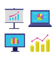 finance icon set vector image vector image