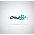wind label vector image
