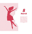 Happy Women Day background vector image