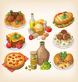 Set of italian food vector image