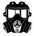 gas mask black and white 05 vector image