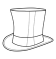 top hat for gentleman vector image
