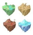 Cartoon Stone flying Island for Game vector image