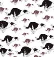 dog run seamless pattern vector image