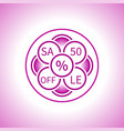 creative sign sale in a pink tone from circles vector image