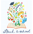 Educational background with book vector image