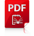 Embossed PDF file icon vector image