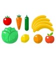 Fruits and vegetables flat icons vector image
