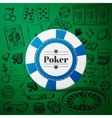 Hand drawn Casino Collection with single blue vector image