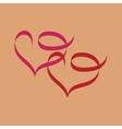 Heart two ribbon vector image