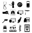 Medical tests icons set vector image