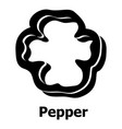 pepper icon simple black style vector image