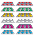 pills in blisters vector image