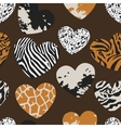 Seamless pattern with heart shapes vector image