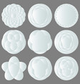 set of abstract white icons for design logos vector image