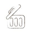 sketch draw trash can web garbage information vector image
