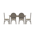 table chair two flat icon isolated restaurant vector image