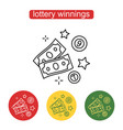 the money icon the concept of a lottery prize vector image