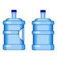 two gallon water bottles with and without handle vector image