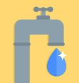 water tap with water drop vector image