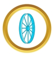Bicycle wheel symbol icon vector image