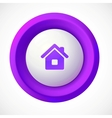 Violet plastic home round button vector image vector image