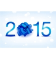 2015 new year blue shiny card vector image
