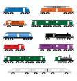 locomotives vector image