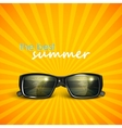 sunglasses with tropical island reflection summer vector image