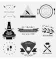 Label logo or menu design for restaurant or vector image vector image