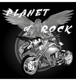 planet of rock vector image vector image