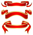scrolled banners vector image