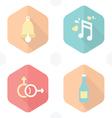 wedding symbols bells music gender drink vector image vector image