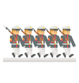 Flat design military parade vector image
