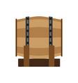 barrel beer wine wooden wood whiskey vintage vector image