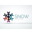 Christmas snowflake company logo design vector image