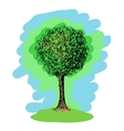Colorful sketch of a tree vector image