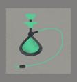 flat shading style icon eastern hookah smoke vector image