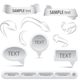 grey set arrows and banners elements vector image