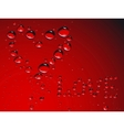 heart made from waterdrops vector image