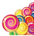 Lollipop background vector image