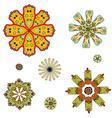 round set with mandala vector image