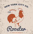 Vintage Rooster T-shirt Design vector image
